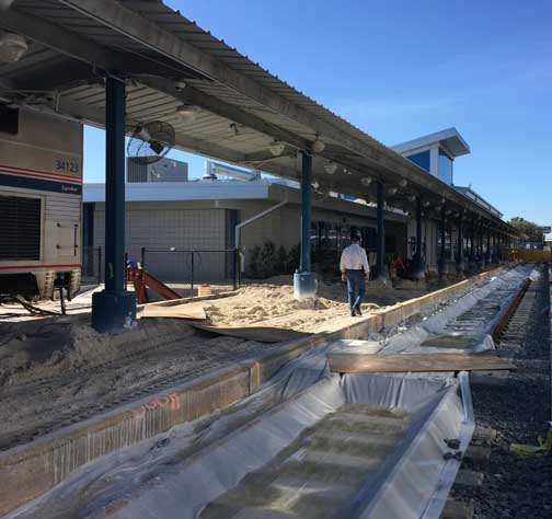 Stations at both ends of the Auto Train route have been rebuilt in recent years. Currently at Sanford, Florida, new tracks are being laid so that wheelchairs car roll right onto the train.